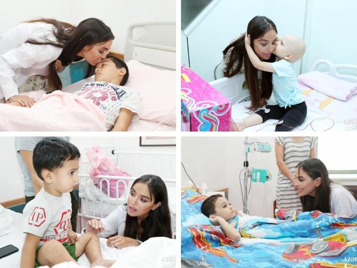 Вице-президент Фонда Гейдара Алиева Лейла Алиева в рамках проектов Фонда посетила ряд медицинских учреждений Баку - ФОТО