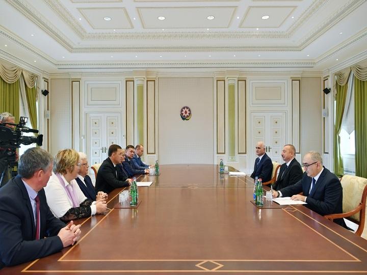 Prezident İlham Əliyev Sverdlovsk vilayətinin qubernatorunu qəbul edib – YENİLƏNİB