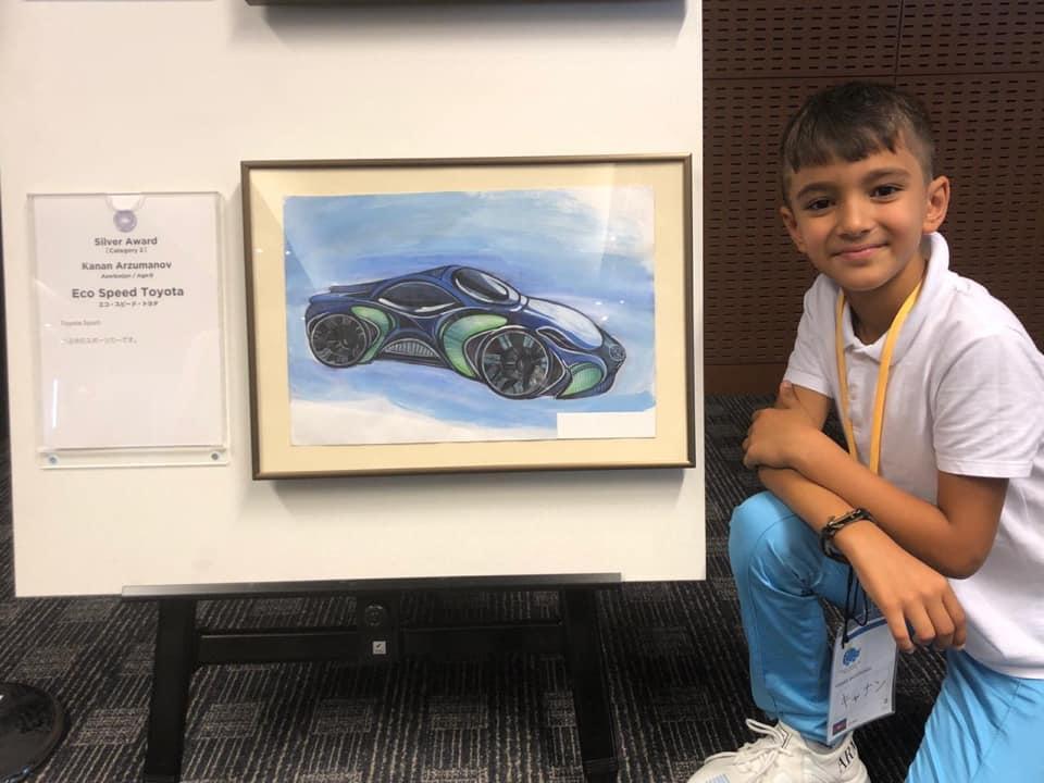 Успех в Японии: дизайн Toyota маленького Кянана Арзуманова был признан 2-м среди 100 тысяч работ - ФОТО