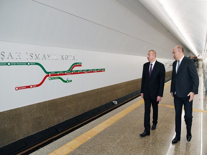 """Prezident """"Xətai"""" stansiyasında görülən işlərlə tanış olub – FOTO – YENİLƏNİB"""