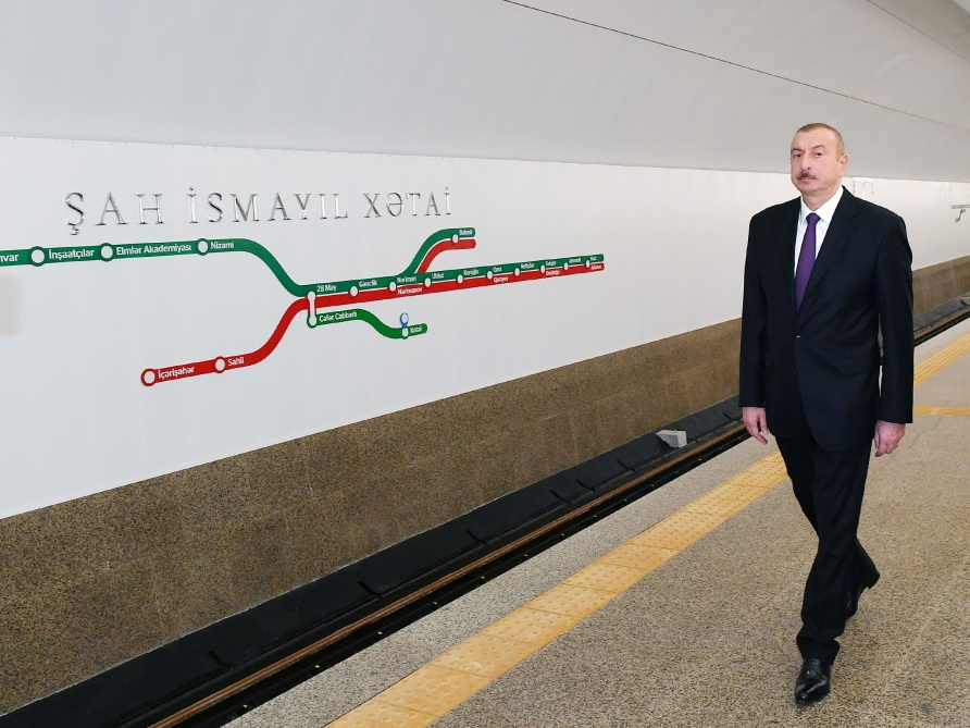 Президент Ильхам Алиев ознакомился с работой, проведенной на станции «Хатаи» Бакинского метрополитена - ФОТО