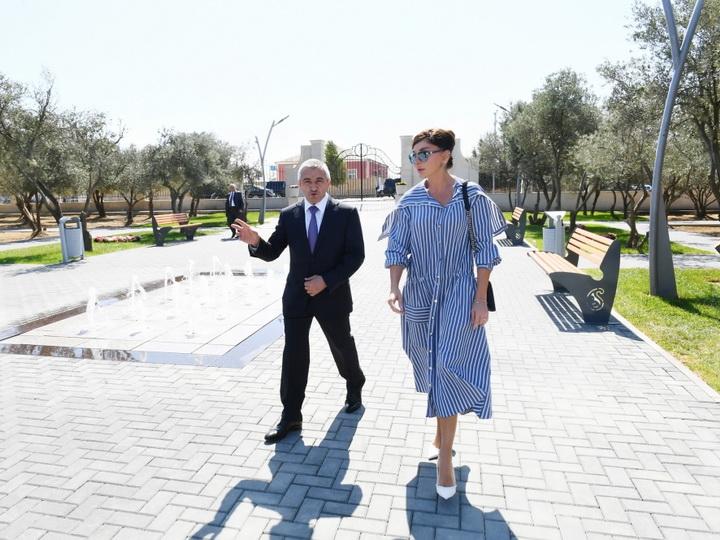 Первый вице-президент Мехрибан Алиева ознакомилась с новосозданным парком отдыха в Кюрдаханы - ФОТО