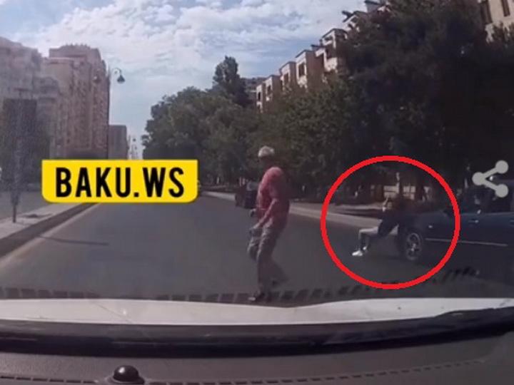 В Баку девушку сбили на «зебре» - ВИДЕО