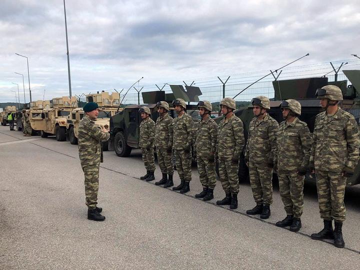 Азербайджанские военнослужащие принимают участие в учениях НАТО - ФОТО