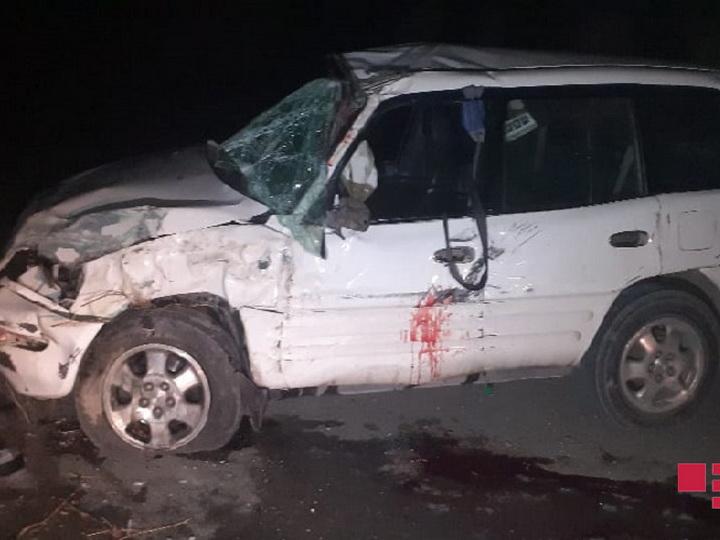 В Гобустане автомобиль упал с моста, есть погибший- ФОТО