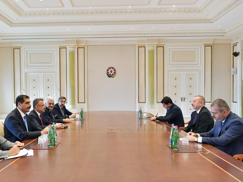 Президент Ильхам Алиев принял делегацию во главе с вице-президентом Турции - ФОТО