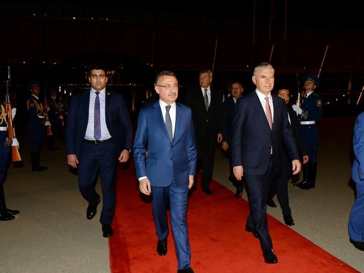 Завершился официальный визит вице-президента Турции в Азербайджан