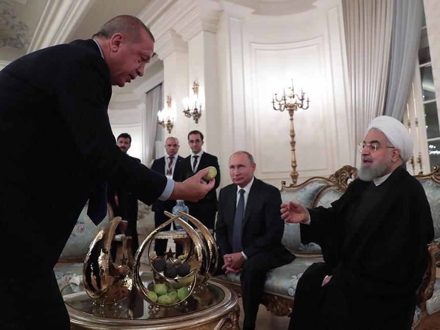 Эрдоган угостил Путина и Роухани инжиром - ФОТО