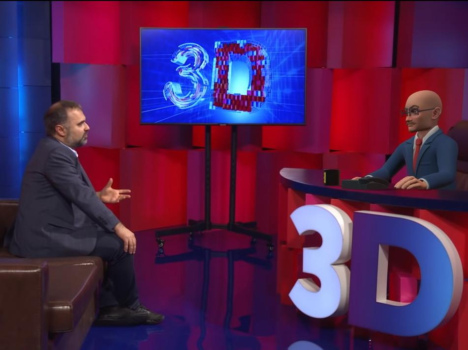Виртуальный ведущий в новой программе ITV - ВИДЕО