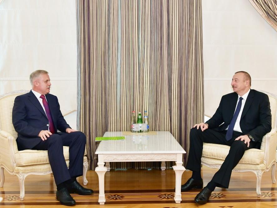 Президент Ильхам Алиев принял делегацию во главе с госсекретарем СБ Беларуси - ФОТО