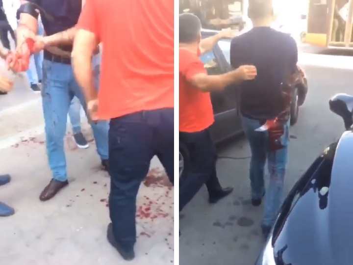 В Баку полиция обезвредила преступника, пытавшегося убить мужчину - ВИДЕО