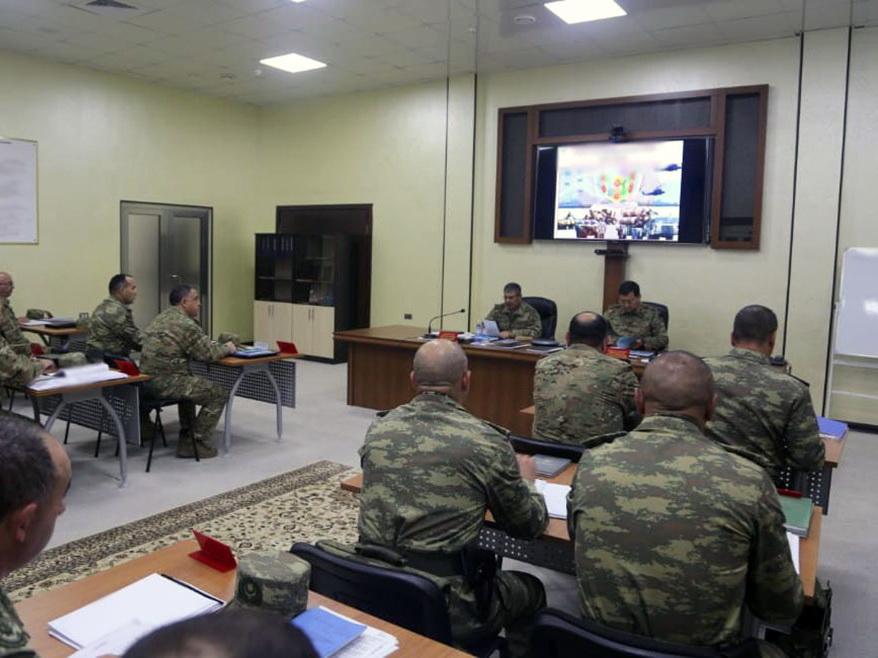 Министру обороны Азербайджана доложили о ходе учений – ФОТО - ВИДЕО
