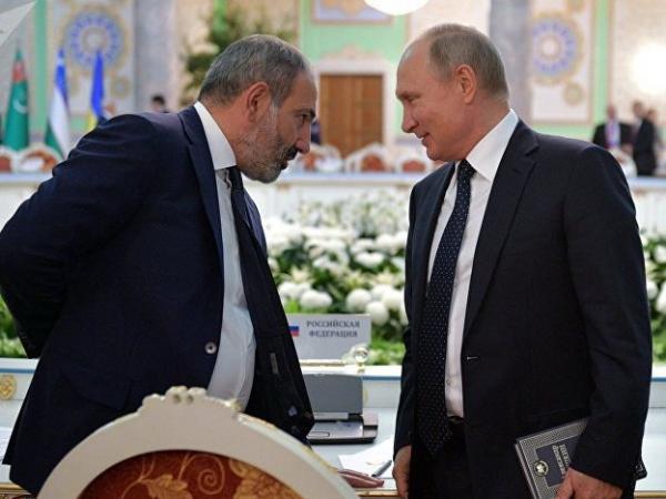 Пашинян просит Путина «обеспечить безопасность» Армении