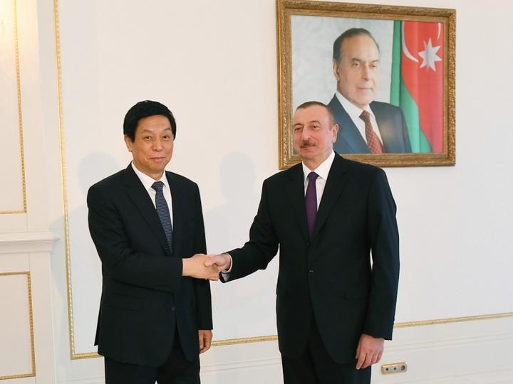 Президент Ильхам Алиев принял делегацию во главе с председателем Постоянного комитета Всекитайского собрания народных представителей