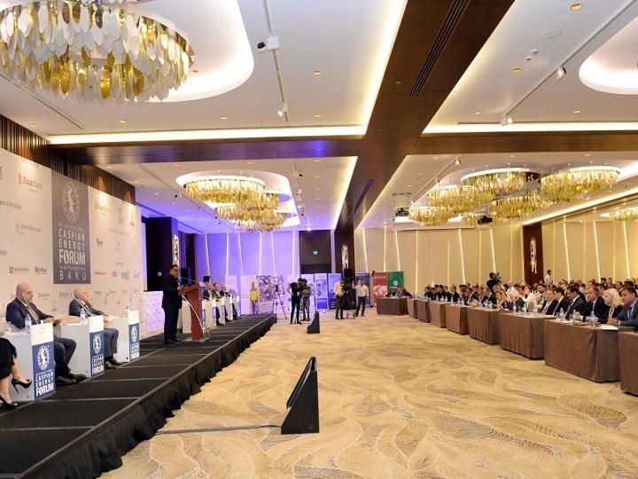 """Bakıda IX Beynəlxalq """"Caspian Energy Forum – 2019"""" işə başlayıb"""