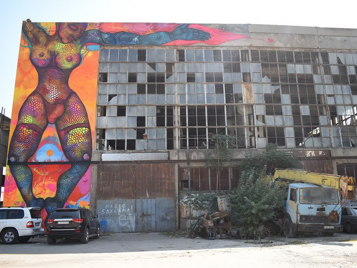 Заброшенный комбинат в Баку превратился в урбанистическое арт-пространство – ФОТО