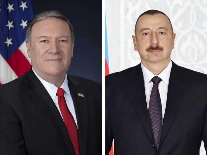 Maykl Pompeo Azərbaycan Prezidentini təbrik etdi