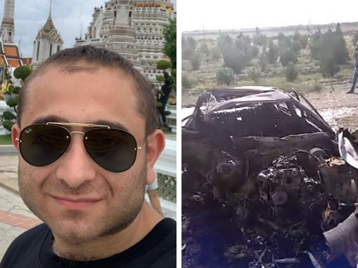 Страшная смерть: Азербайджанский журналист сгорел в ДТП - ФОТО - ВИДЕО