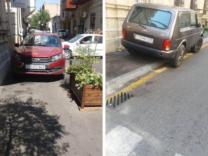 Как водители ломают тротуары в центре Баку - ФОТОФАКТ