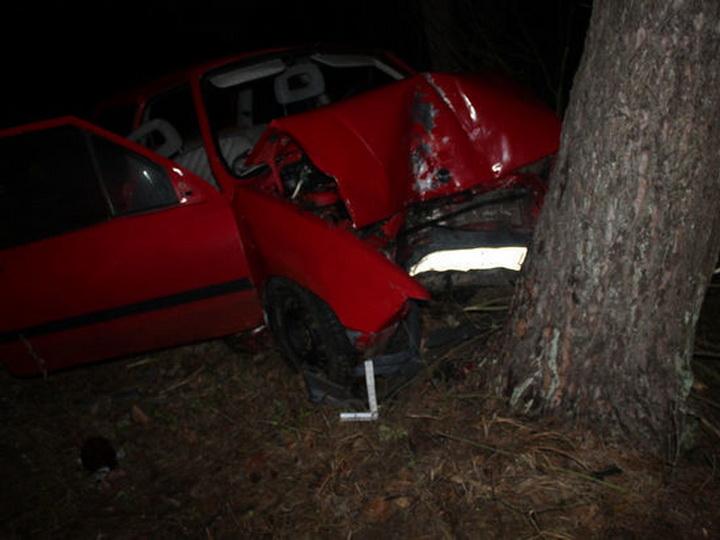 В Агстафе автомобиль врезался в дерево – ФОТО