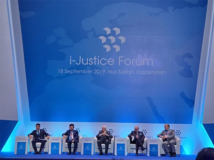 Qazaxıstanda dünyamiqyaslı Beynəlxalq Ədliyyə Forumu keçirilib - FOTO