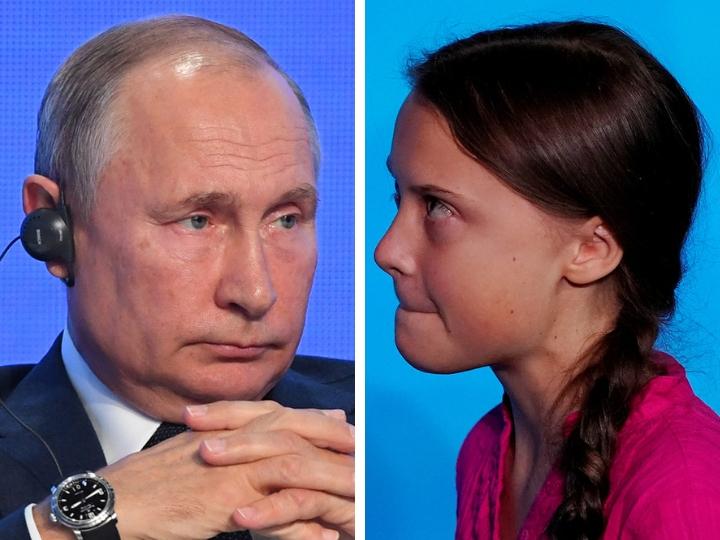 Грета Тунберг поменяла статус в твиттере из-за Путина