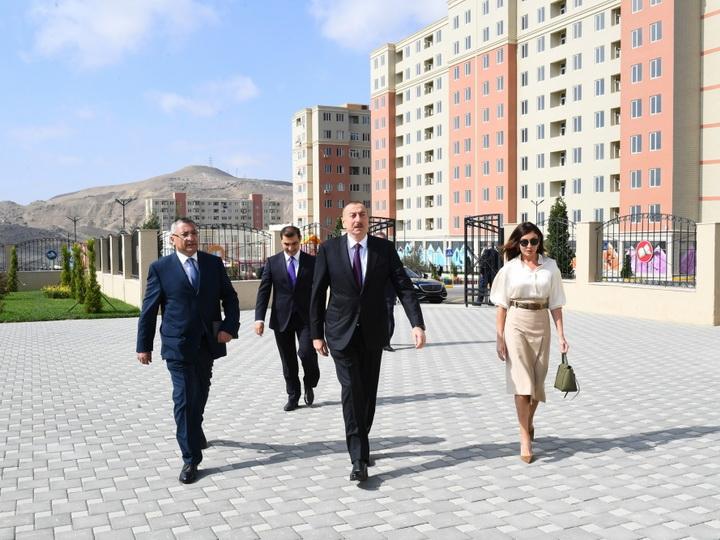 Ильхам Алиев принял участие в открытии жилого комплекса «Гобу Парк-2», возведенного для вынужденных переселенцев- ФОТО