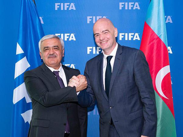 AFFA və FİFA prezidentləri görüşüb - FOTO
