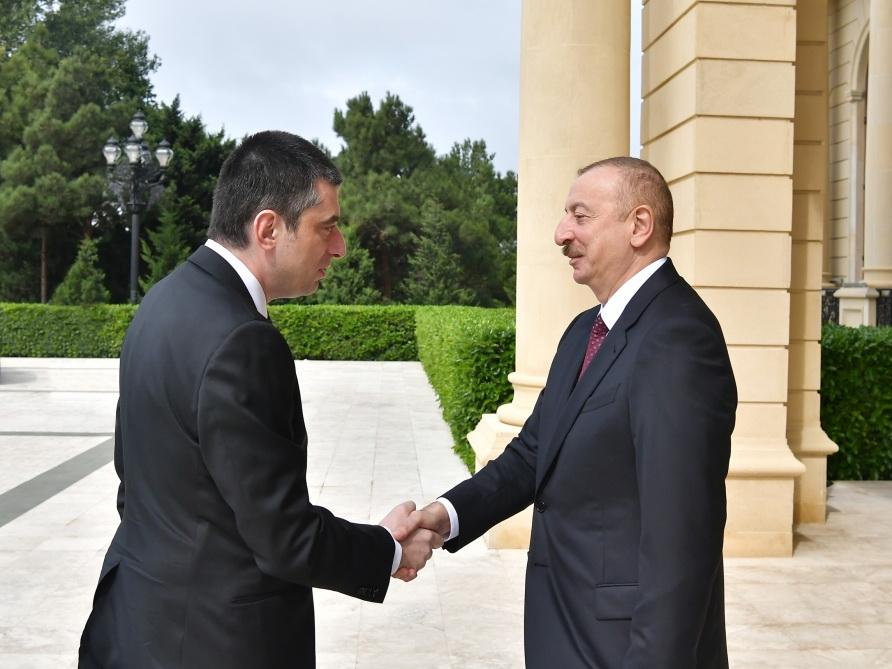 Президент Ильхам Алиев принял премьер-министра Грузии - ФОТО