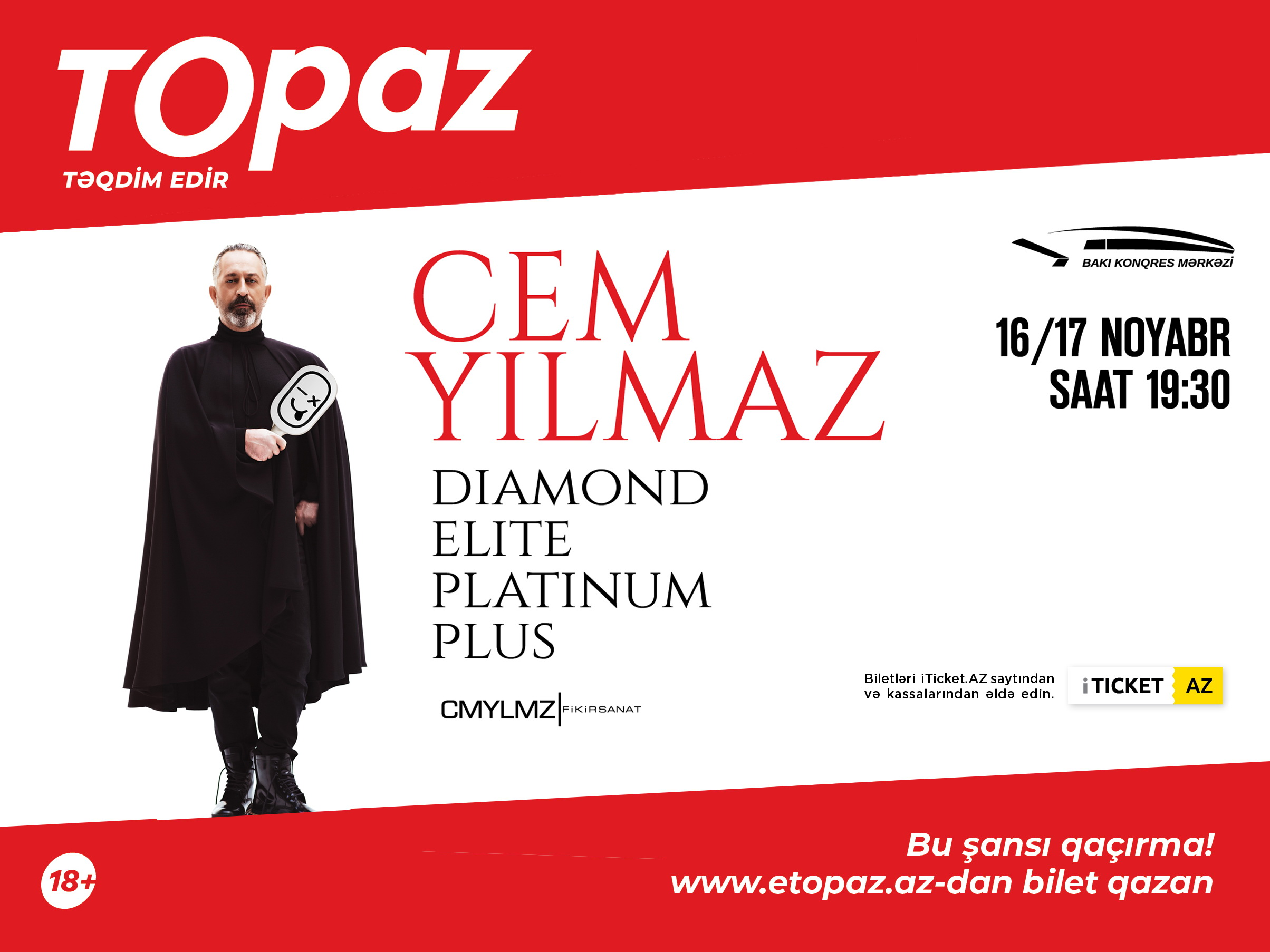 Джем Йылмаз выступит в Баку (18+) - ФОТО