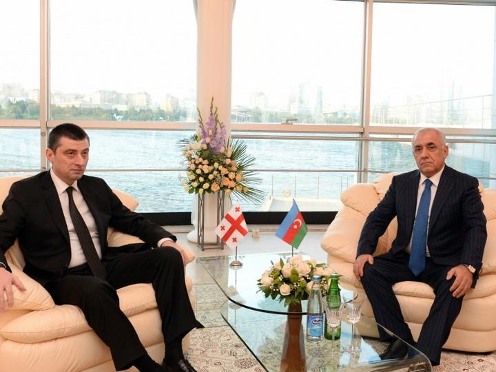 Состоялась встреча премьер-министров Азербайджана и Грузии - ФОТО