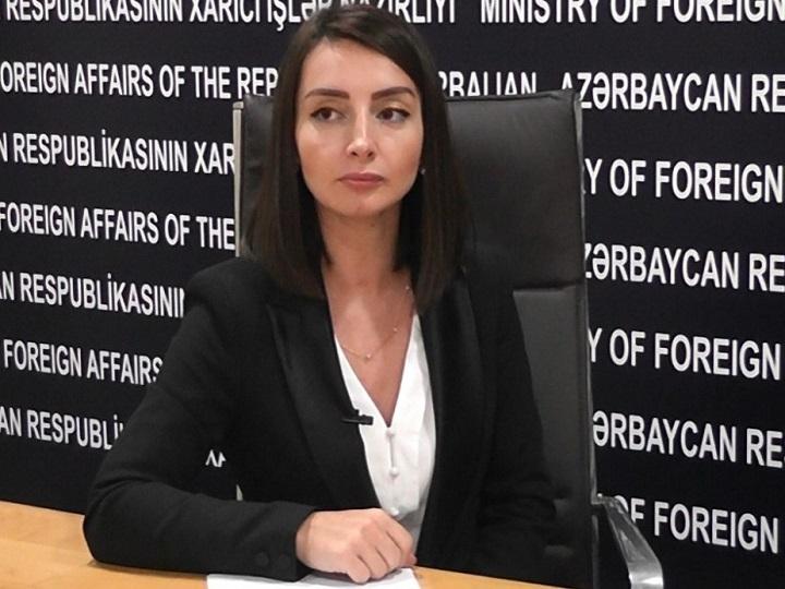 Leyla Abdullayeva: Ermənistanın guya ki, dini dəyərlərə verdiyi hörməti nümayiş etdirmək cəhdi riyakarlıqdır