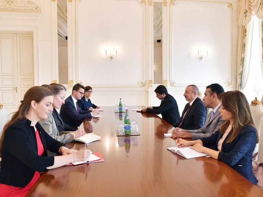 Президент Ильхам Алиев принял делегацию парламента Швейцарии - ФОТО