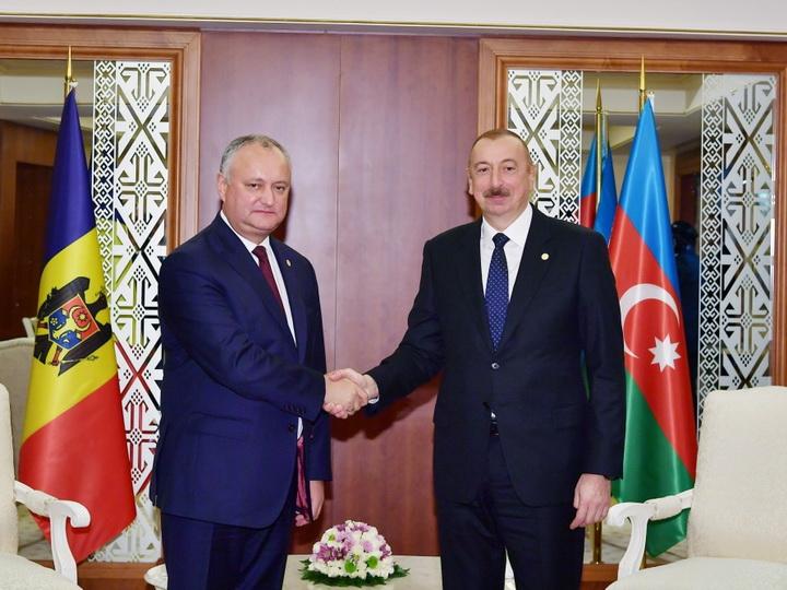 Состоялась встреча президентов Азербайджана и Молдовы - ФОТО