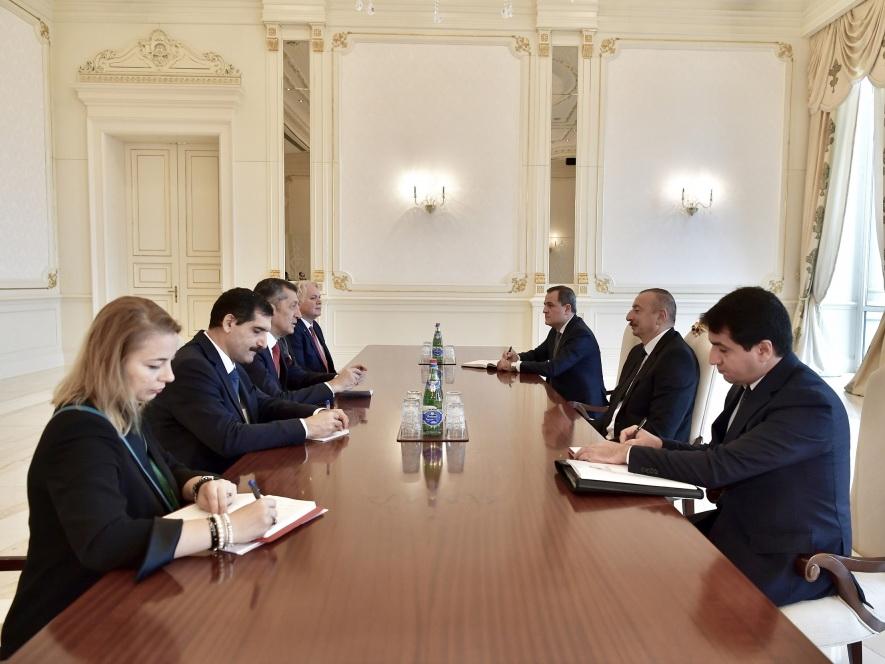 Президент Ильхам Алиев принял делегацию во главе с министром образования Турции