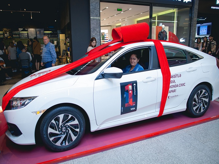 BirKart müştərisi Honda Civic qazandı – FOTO