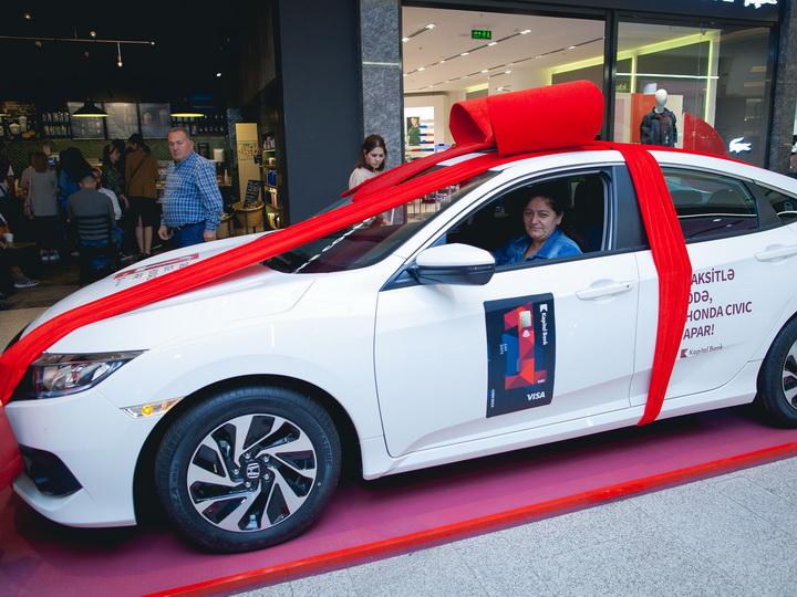Владелец карты BirKart выиграл Honda Civic! – ФОТО