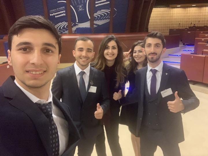 Азербайджанский молодежный десант в Страсбурге – ФОТО