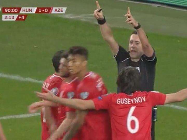 Главный арбитр матча Венгрия – Азербайджан принес извинения за свою ошибку – ВИДЕО
