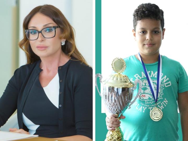 Мехрибан Алиева: «Новость о победе нашего юного шахматиста вызывает в каждом из нас только чувство гордости и радости»