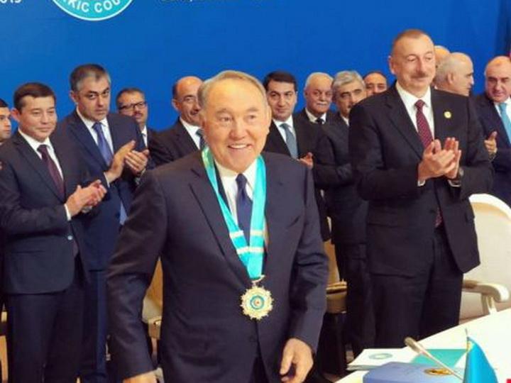 """Nursultan Nazarbayev """"Türk dünyasının Ali Ordeni"""" ilə təltif edilib"""