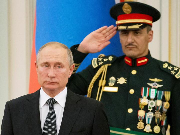 Саудовский духовой оркестр удивил Путина фальшивым исполнением российского гимна – ВИДЕО