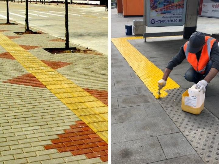 На бакинских тротуарах установят спецдорожки для слабовидящих - ФОТО