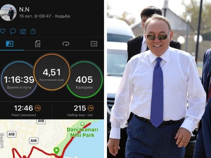 Нурсултан Назарбаев в Баку прошел 4,5 километра по бульвару - ФОТО