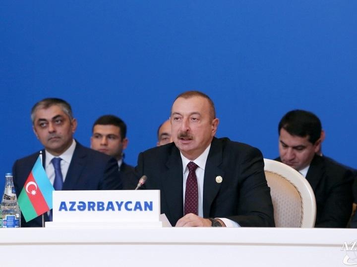 Azərbaycan Prezidenti: Müqəddəs məscidləri dağıdan Ermənistan müsəlman ölkələri ilə dost ola bilməz