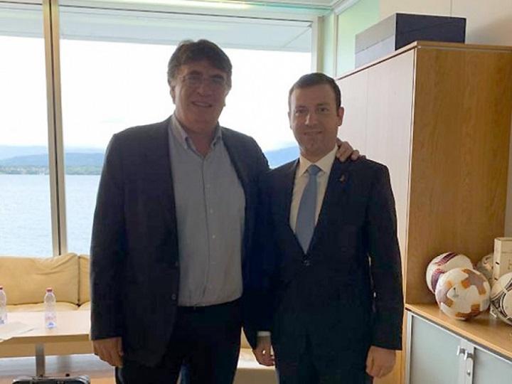 Elxan Məmmədov UEFA-nın baş katibi ilə görüşüb