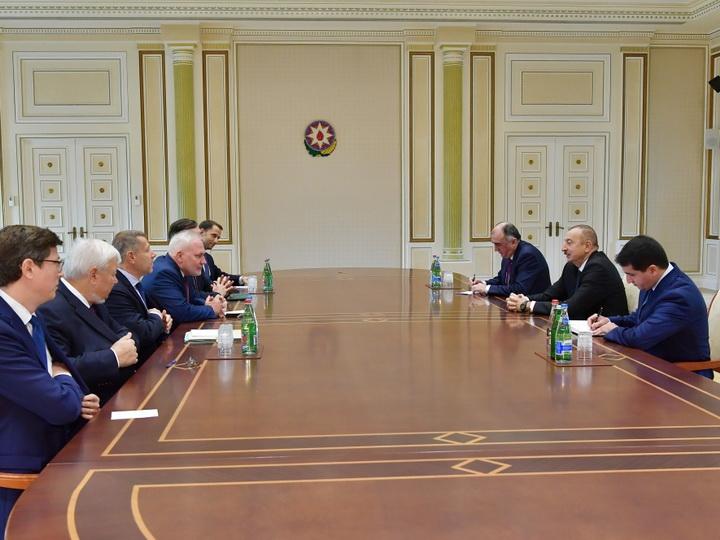 Президент Ильхам Алиев принял сопредседателей Минской группы ОБСЕ
