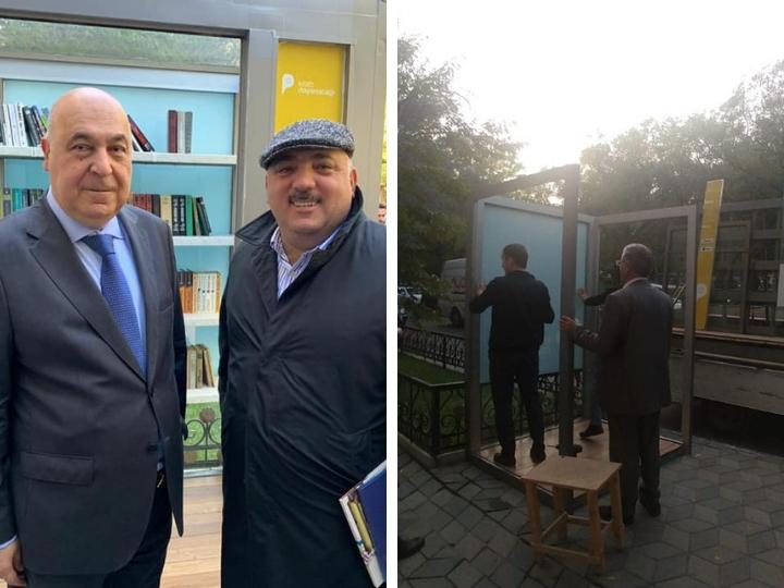 Почему был снесен книжный киоск, который открывали Чингиз Абдуллаев и Бахрам Багирзаде? – ФОТОФАКТ