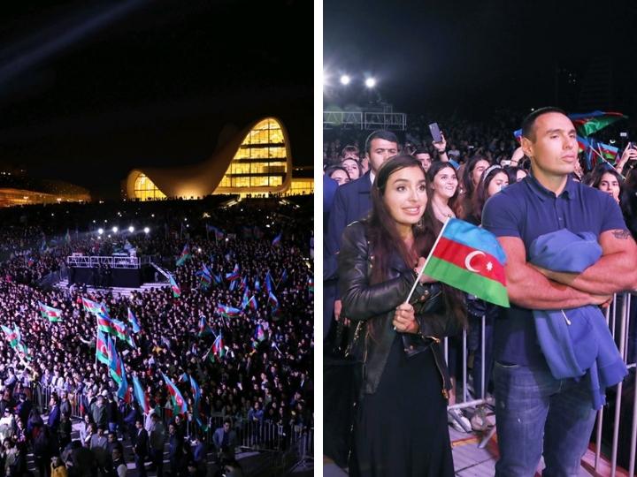 В Баку состоялся грандиозный концерт по случаю Дня государственной независимости – ФОТО – ВИДЕО