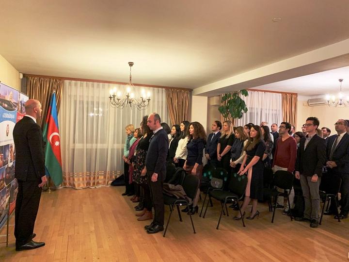 Azərbaycan Respublikasının Dövlət Müstəqilliyi Günü Strasburqda qeyd edilib – FOTO